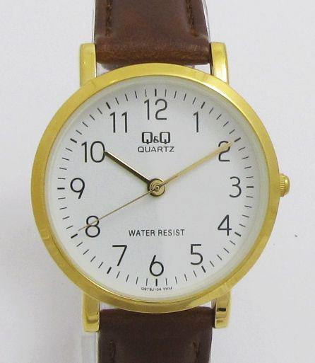 Dámské hodinky s hnědým koženým řemínkem  3516048a517