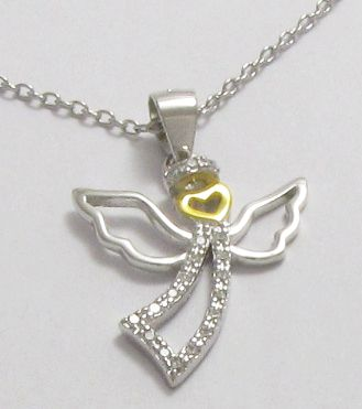 1025a2967 Stříbrný náhrdelník - anděl 925/1000, 2,40g | Zlatnicví Iveta